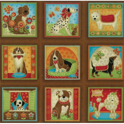 Dogs Fabric Panel