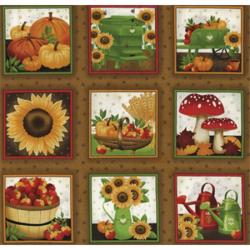 Thanksgiving Fabric Panel