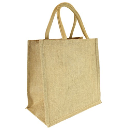 Natural Short Handle Jute Bag